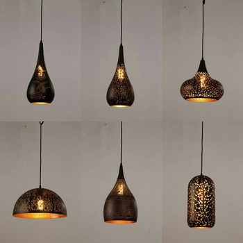 New Design Home Creative Hollow Out Iron Moroccan Lighting Chandelier Hanging Light Pendant Lamp Clic Modern