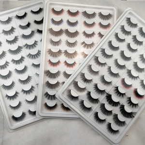 2019 New Own Brand Silk Lashes Private Label Wholesale 3D Faux Mink Eyelashes Handmade Cruelty Free 3D Silk Lashes