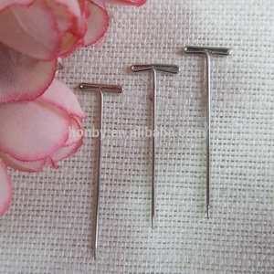 High Polished Silver Color 38mm Stainless Steel Flat Bar Head T Straight pin In 5 Sizes