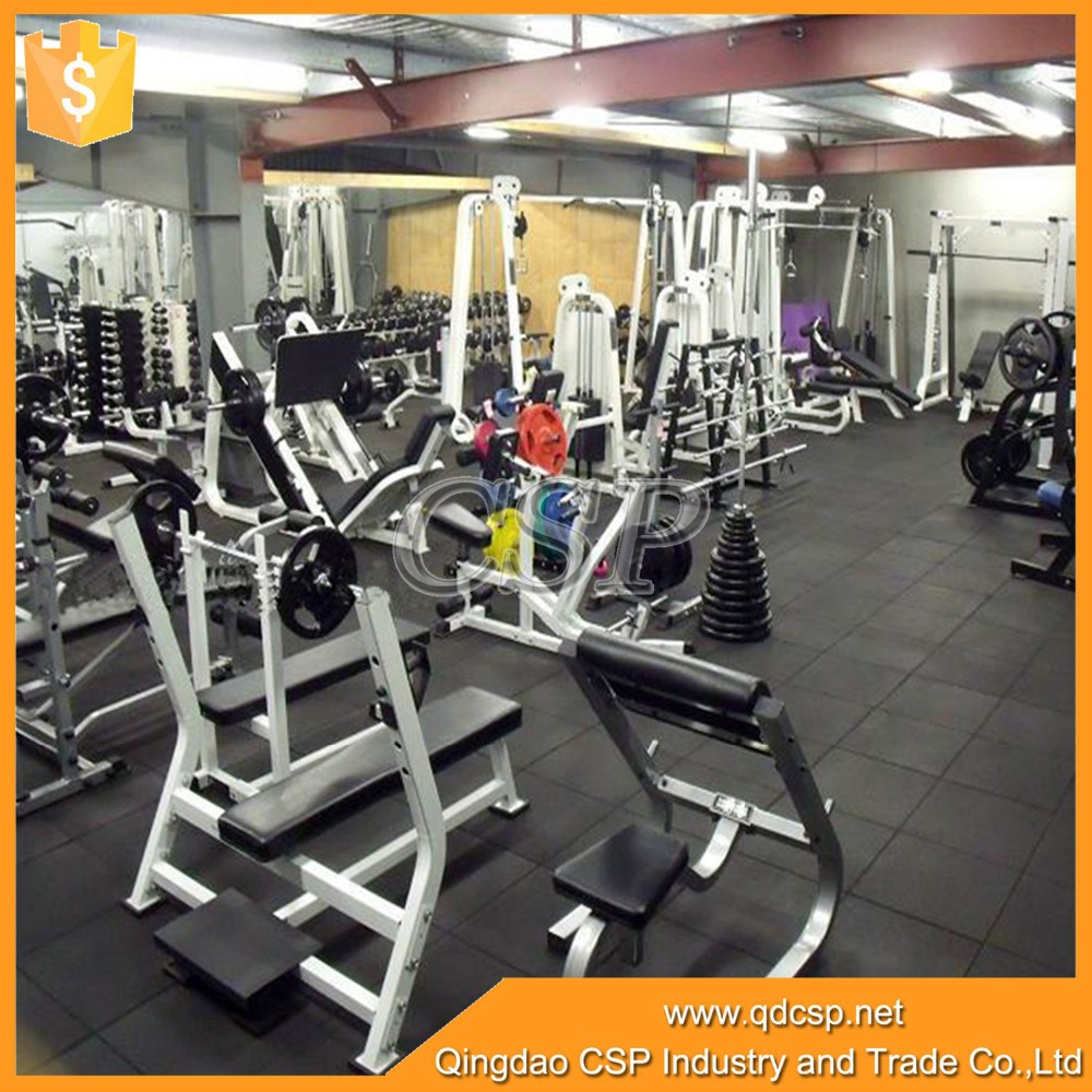 Gym indoor rubber flooring/fitness room ruber tile