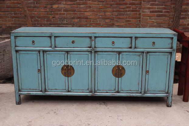 14062607 peint console en bleu chinois de style armoires console buffet meubles en bois id de. Black Bedroom Furniture Sets. Home Design Ideas