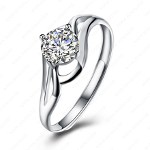 High quality new design ladies finger ring 925 sterling silver zircon jewelry