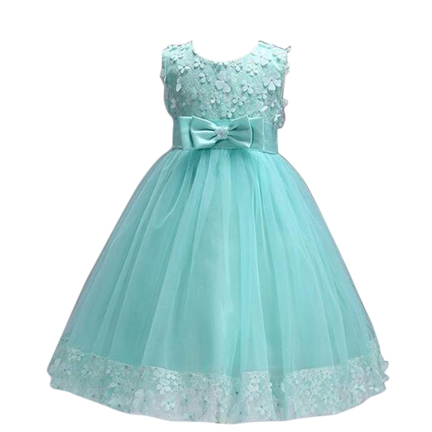 5bdcbbecc9758 Get Quotations · JIANLANPTT Pretty Child Little Girl Wedding Dress Formal Party  Dresses Kids Wear