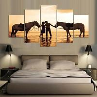 5 Panels Wall Art Pictures Romantic Beach Lovely Stone Seascape Canvas Painting On The Wall Modern Wall Pictures For Living Room
