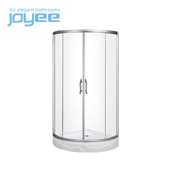 JOYEE cardinal small glass shower doors round shower cabin