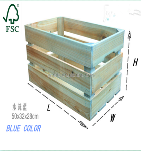Customer make high quality custom antique wooden crate