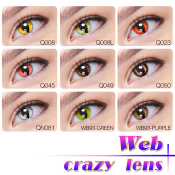 All Black Halloween Contact Eye Lens Color Contacts Cat Eye