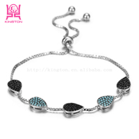 Cheap China manufacturers 925 sterling silver jewelry custom charm bracelets bulk buy from china
