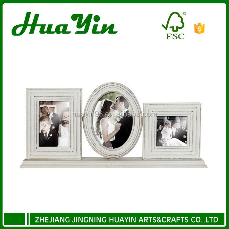 Wooden 3 combination wedding picture photo frame