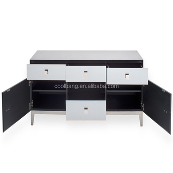 Coolbang CBM074 Ornate Berlin Glass Mirrored TV Stand Cabinet With Drawer