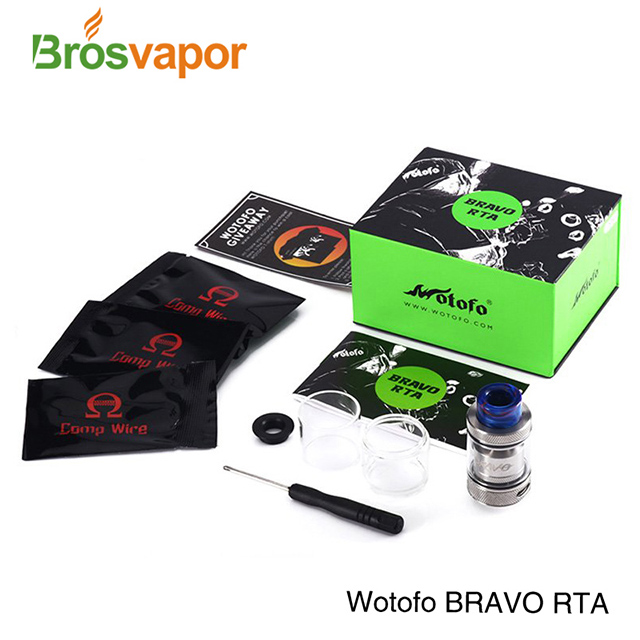 2018 Best Vape Tank,25mm RTA With Amazing Knurling And Great Airflow Wotofo Bravo RTA