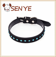 Blue crystal diamond cattle cashmere pet collar dog chain pet supplies dog collar making supplies