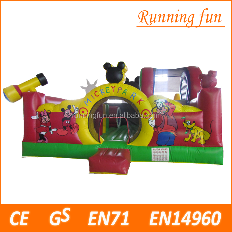 Novel ontwerp opblaasbare Mickey Park Learning Club, Mickey amusement fun land hindernisbaan