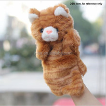 New styles cat animal plush hand puppets toy for kids