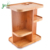 Multi-Function Storage Carousel 360 Degree Bamboo Cosmetic Organizer for Makeup, Toiletries And Bathroom