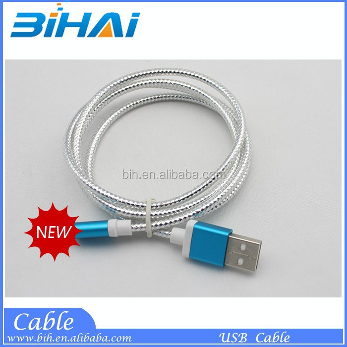Wholesale USB data cable usb cable with Nylon sleeve for phone
