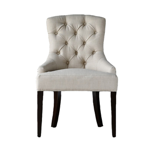 Modern Master Home Furniture Tufted White Dining Chair