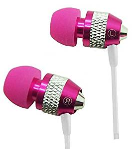 Heavy Duty 3.5mm Stereo Earbuds for BLU Vivo Air/ Studio 5.0 C HD/ 5.0C HD/ Studio Energy/ Win HD / Dash 5.5/ Studio 6.0 LTE/ Life One XL/ Studio G/ Studio X Plus/ Studio X/ 5.0 HD LTE/ 5.5/ Studio 5.5/ Studio 5.5 S/ Advance 4.5/ Dash 5.0/ Studio 5.0 K/ Neo 4.5/ Studio 5.0 LTE (Hot Pink) - with
