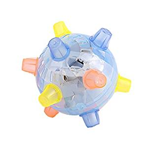 Jumping Ball Toy - TOOGOO(R) LED Jumping Joggle Sound Sensitive Vibrating Powered Ball Game Kids Flashing Ball Toy