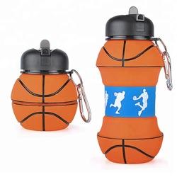 लोकप्रिय बच्चों के खेल फुटबॉल पेय Foldable पानी की बोतल BPA मुक्त