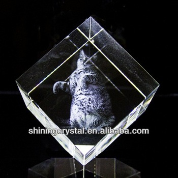 Hot sell Crystal Paperweight Rectangle,3d laser crystal craft