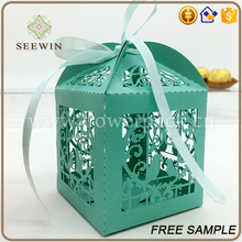 wholesale beautiful wedding ornaments laser cut wedding favor boxes