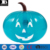 Eco-friendly vinile gonfiabile jumbo Halloween teal zucca decorazione del partito