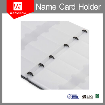 China custom oem pp cover office plastic sheets business card holder china custom oem pp cover office plastic sheets business card holder book reheart Choice Image
