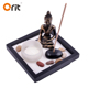 Sculpture Made from Resin and Concrete with Candle and Incense Holder mini zen garden rake