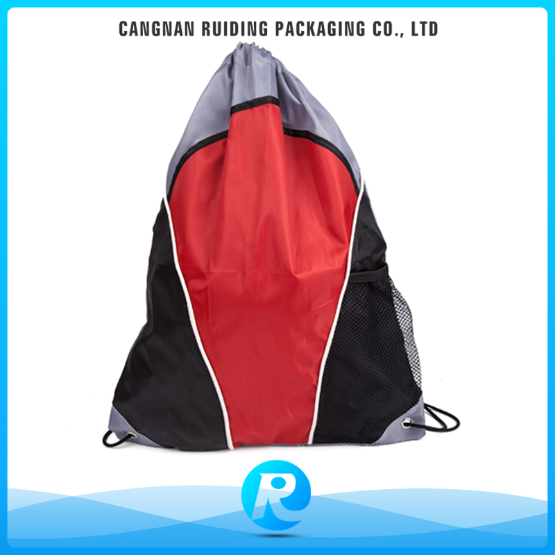 Ruiding Online Shopping Promotional Nylon Polyester Large Drawstring Bags