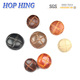 HOP HING Factory Plastic Imitation Leather shank button for coat