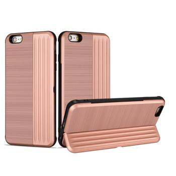 Wholesale Card Slot PC TPU 2 in 1 Combo Shockproof Carcasas Para Celulares for iphone 6 With Mobile Holder