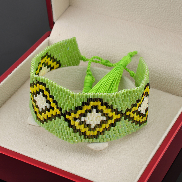Wholesale Jewelry Tukish Seed Bead Glass Bangle Bracelet From Evil Eye Gold For Women
