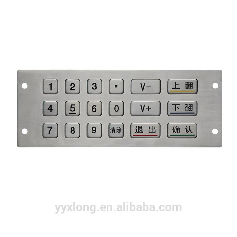 numerical keyboard door entry camera system 6x3 18 key keypad