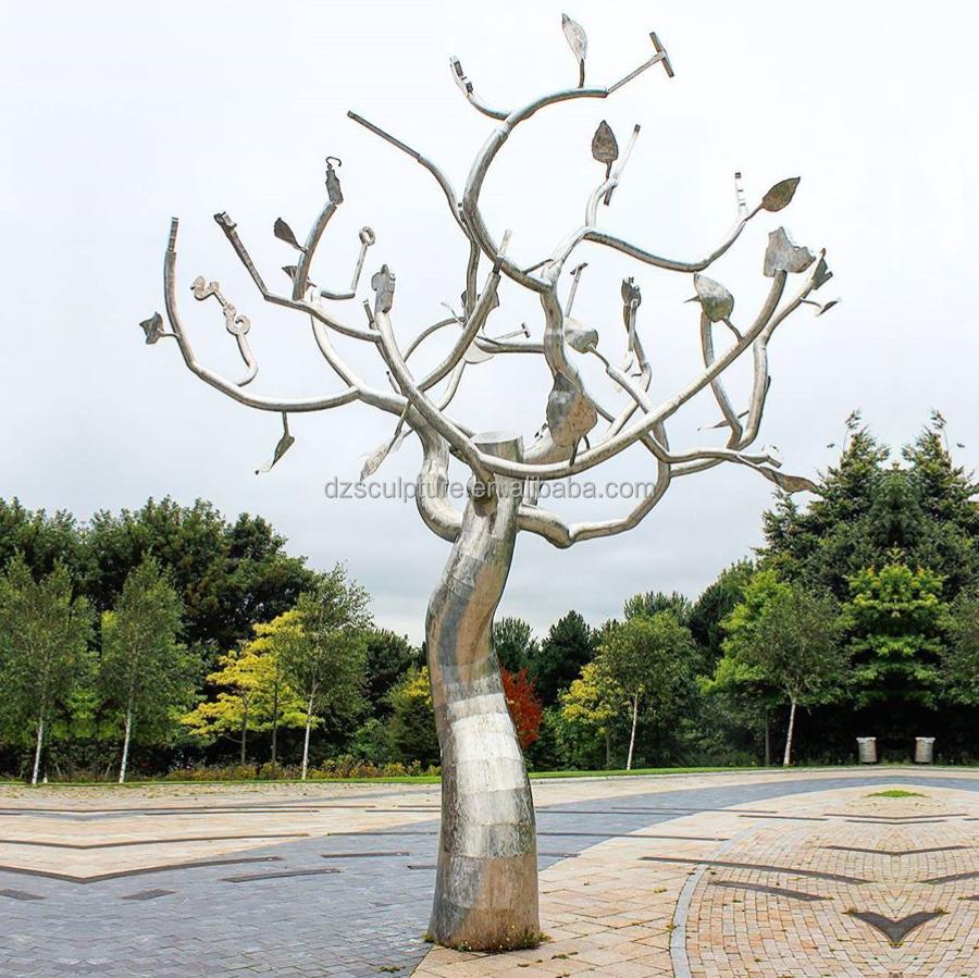 Large Stainless Steel Tree Sculpture For Outdoor Garden Art Decor ...