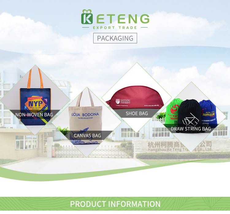 Custom logo non-woven made drawstring sports bag with tie string