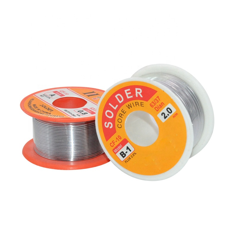 0.5/0.6/0.8/1/1.2/1.5/2mm 63/37 FLUX 2.0% 100g Tin tin Lead Wire Melt Rosin Core Soldeer Soldeer Wire Roll