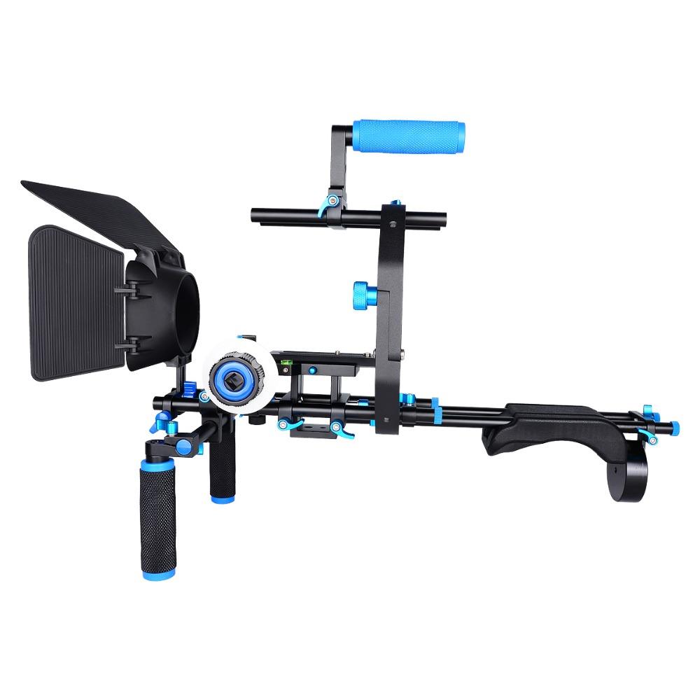 YELANGU DSLR/VCR Rig Movie Kit Shoulder Mount For DSLR Camera DV HDV Camcorder