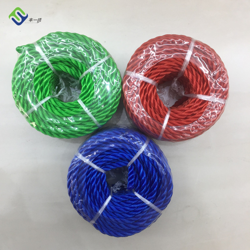 3 strand 6mm Twine Boat High Density Polyethylene Ropes hot sale