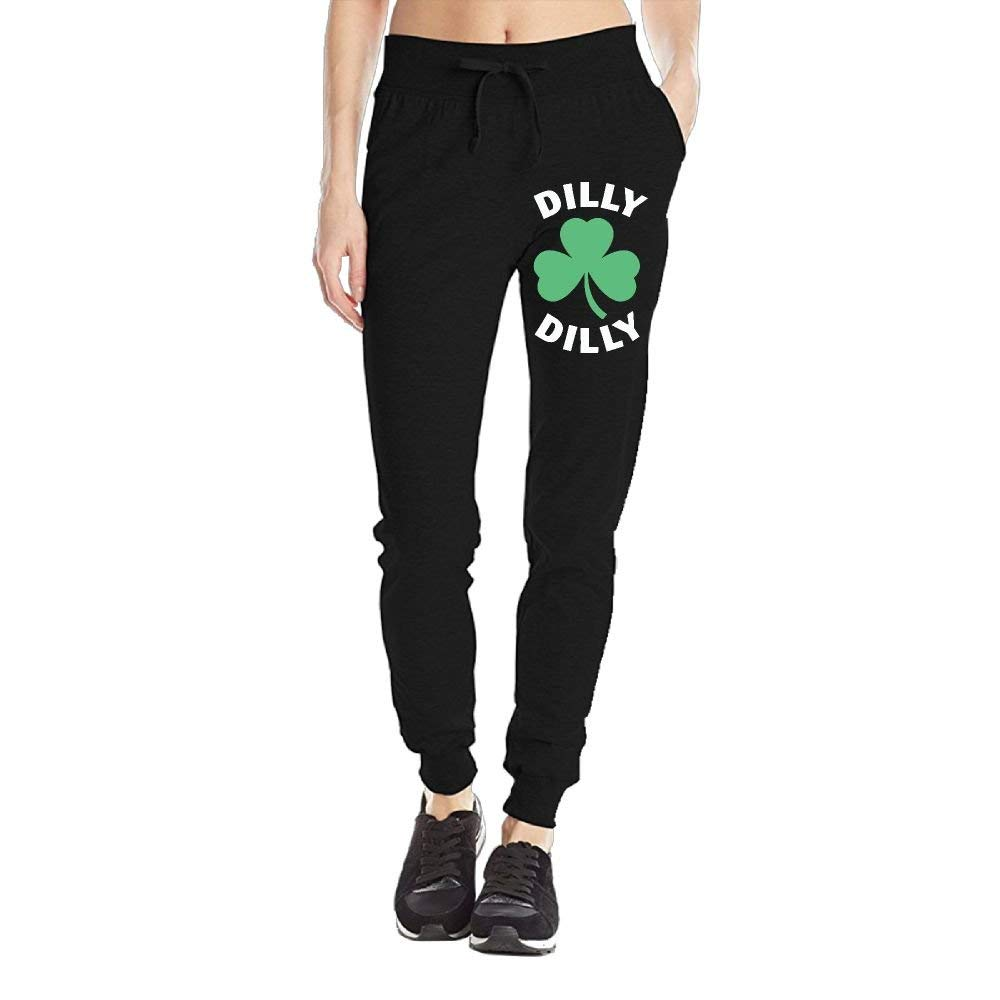 Merhy-Yous Women's Sweatpant Dilly Dilly Saint Patricks Day Yoga Workout Athletic Joggers Pants