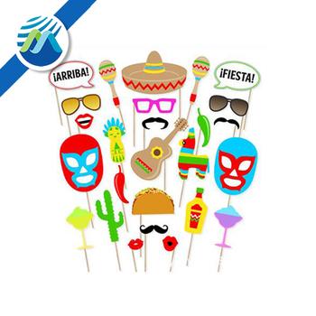Hot Koop 26 Stks Cinco De Mayo Mexicaanse Festival Photo Booth Props
