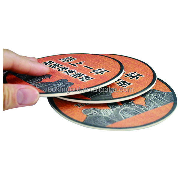 logo custom make paper coaster with 2 sides printing