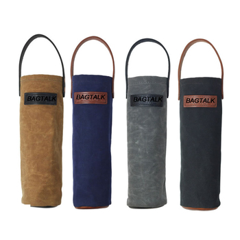 Wt001 Whole Beer Bottle Holder Waxed Canvas Tote Wine Bag With Handle Product On