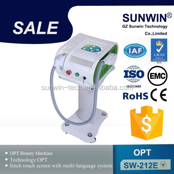 medical IPL+Elight+SHR 3 in 1 permenent hair removal machine/ipl photo rejuvenation equipment with CE approved