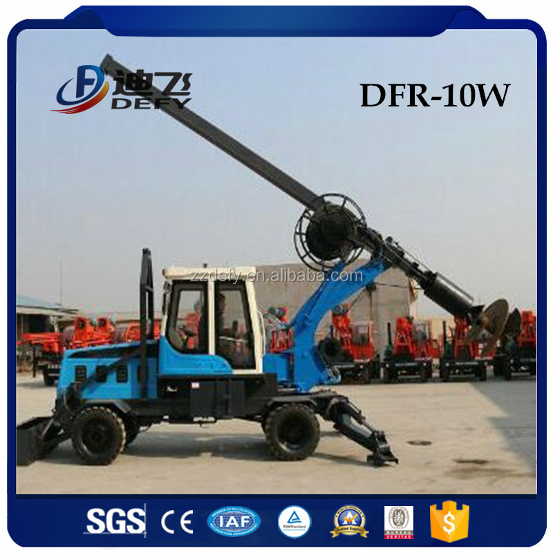 DFR-10W Hydraulic rotary auger foundation drilling equipment