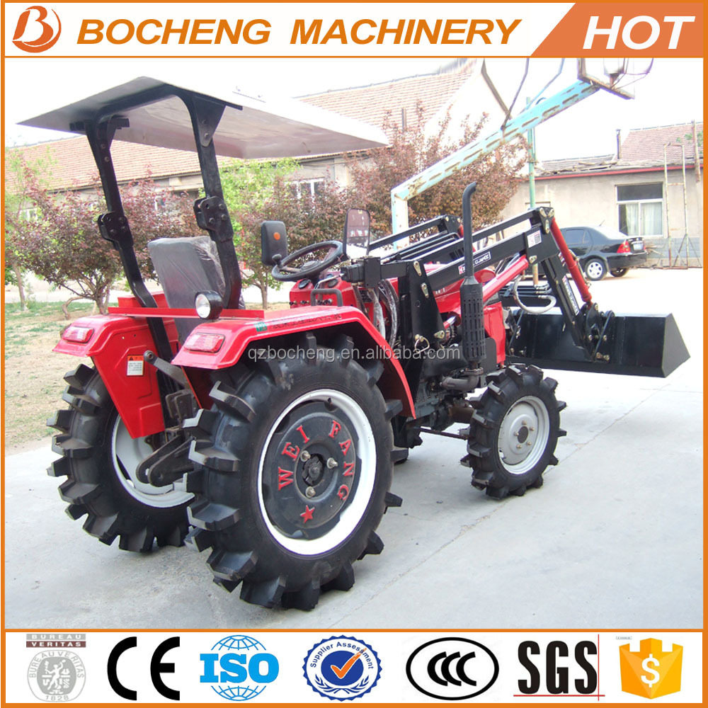 China manufacture 25hp 4wd mini tractors with front end loader