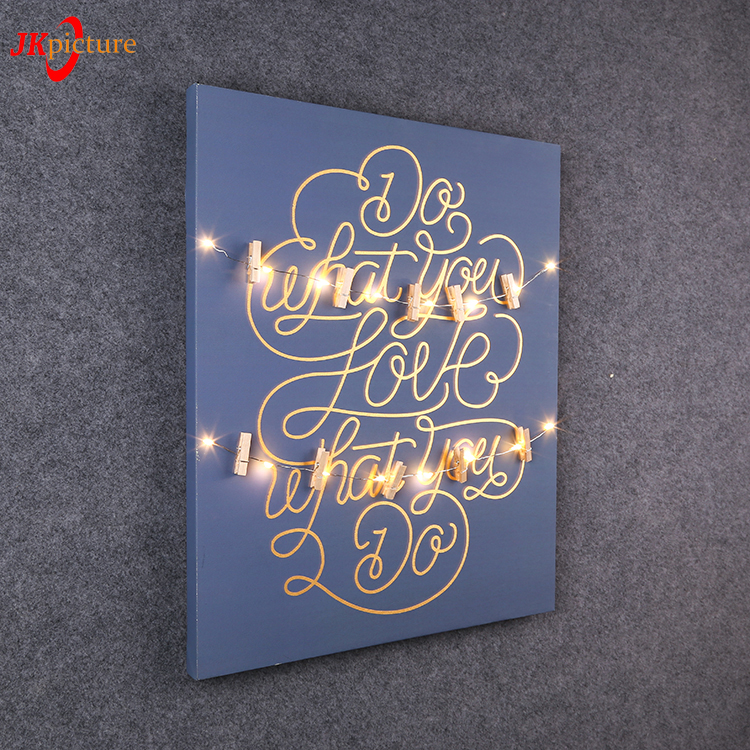Black background light up picture led lights Christmas canvas painting craft