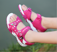 2017 new trend beautiful flower girls princess casual sandals