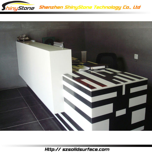 mixed color design long shape artificial stonemarble solid surface restaurant cashier counter buy restaurant cashier countercashier counter for