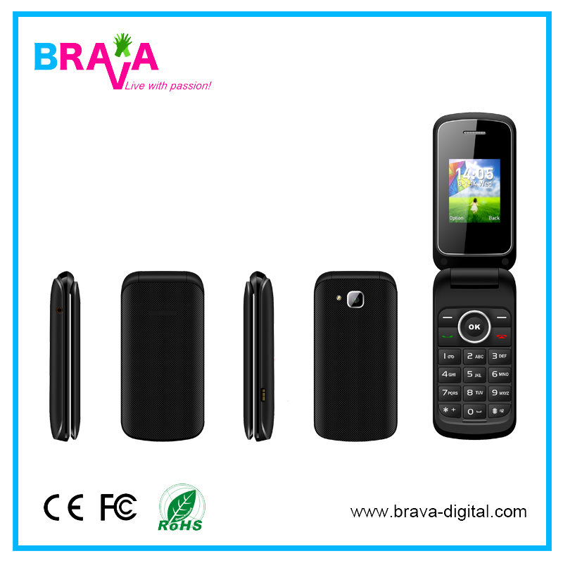 1.77 Inch Long Standby Dual Sim Flip Feature For Lenovo Flip Mobile Phone For Iphone 7 Unlocked